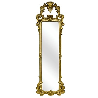 Hickory Manor House Ornate Strip Mirror; Gold Leaf