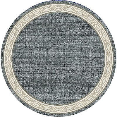 Dynamic Rugs Yazd Gray Area Rug; Round 5'3''