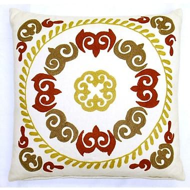 Sabira Suzani Oksana Medallion Cotton Throw Pillow