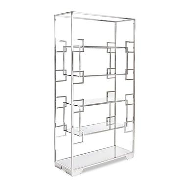 Lievo Jasmin 72'' Etagere Bookcase; Silver