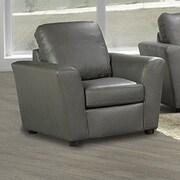Coja Delta Italian Leather Arm Chair; Grey