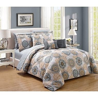 RT Designer's Collection Gramercy 10 Piece Comforter Set; Queen