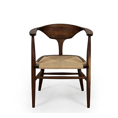Organic Modernism Peking-A Arm Chair; Leather - Brown
