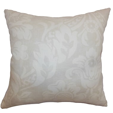 The Pillow Collection Marcail Floral Cotton Throw Pillow; 24'' x 24''