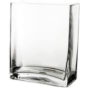 CYSExcel Glass Rectangle Vase; 10'' H x 8'' W x 4'' D