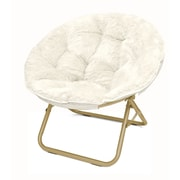 Urban Shop Micromink Papasan Chair; White
