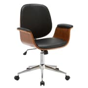 Porthos Home Idalia Mid-Back Desk Chair; Black