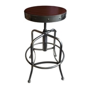 Holland Bar Stool Swivel Adjustable Height Bar Stool; Dark Cherry