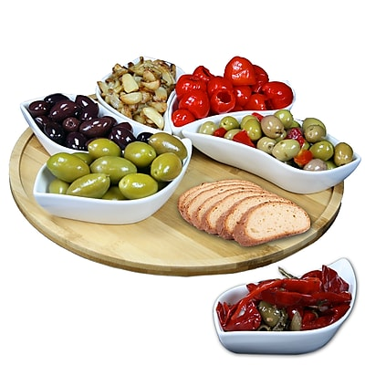 Elama Signature 7 piece Lazy Susan Appetizer and Condiment Server Set EL-170