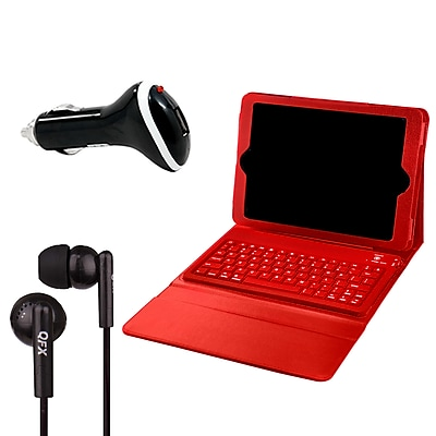 Mgear PU Leather Bluetooth Keyboard Case for iPad Pro in Red (96813)