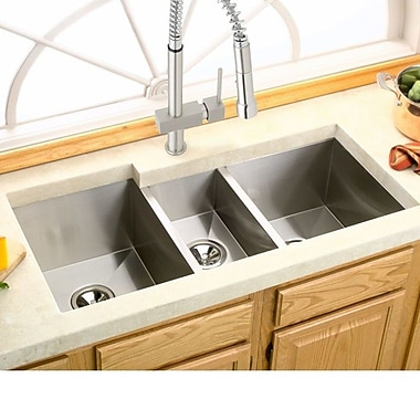 Elkay Avado 40'' x 20.5'' Stainless Steel Triple Bowl Undermount Kitchen Sink