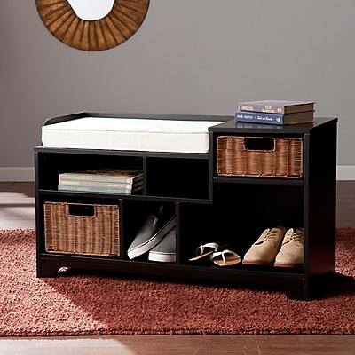 SEI Wixshire Asymmetrical Storage Bench - Black