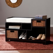 SEI Wixshire Asymmetrical Storage Bench - Black (BC2727)