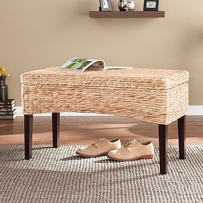 SEI Antero Hyacinth Storage Bench - Natural