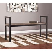 SEI Holly & Martin Abachi Bench - Burnt Oak (BC5812)