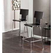 SEI Holly & Martin Tebrack Barstools - Black - 2 Piece Set (BC8401)