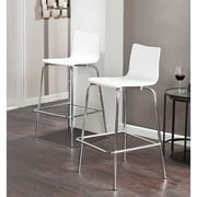 SEI Holly & Martin Blence Barstools - White - 2 Piece Set (BC8418)