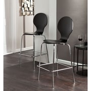 SEI Holly & Martin Conbie Barstools - Black - 2 Piece Set (BC8421)