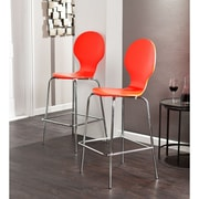 SEI Holly & Martin Conbie Barstools - Red - 2 Piece Set (BC8427)