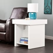 SEI Holly & Martin Glidick Slide-Top End Table - White (CK7892)