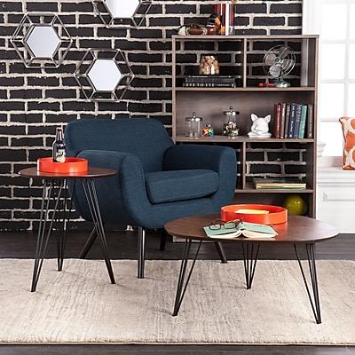 SEI Holly & Martin Bannock 2 Piece Table Set - Dark Tobacco with Black (CK7930)