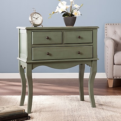 SEI Cardamom 3-Drawer Sideboard - Green (CM5015)