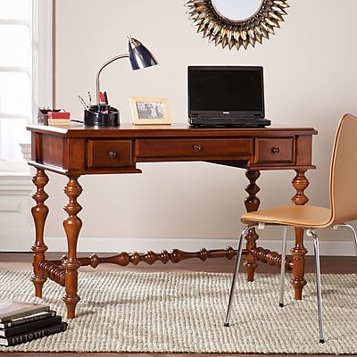 SEI Huntleigh Turned-Leg Desk - Oak (HO7305)