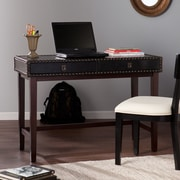 SEI Rinaldi Faux Leather Writing Desk - Black (HO7306)