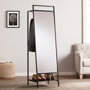 SEI Drake Mirror/Hidden Coat Rack - Black (HZ0302)