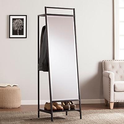 SEI Drake Mirror/Hidden Coat Rack - Black (HZ0302)