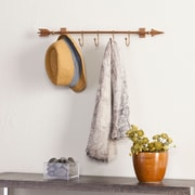 SEI Wall Mount Arrow with Hooks - Copper (HZ0306)