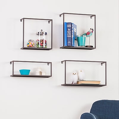 SEI Holly & Martin Zyther Metal Wall Shelves - 4 Piece Set (HZ0307)