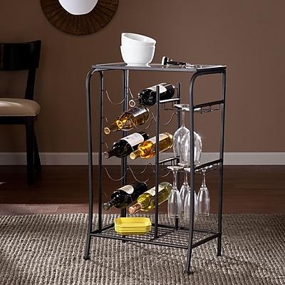 SEI Marengo Wine Rack Storage Table - Black (HZ0310)