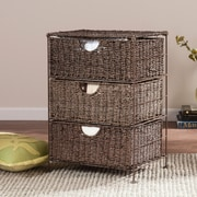 SEI Kelsey Seagrass 3-Drawer Storage (HZ0321)