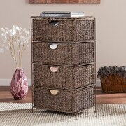 SEI Kelsey Seagrass 4-Drawer Storage (HZ0322)