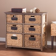 SEI Quincy Coastal 6-Drawer Storage (HZ0325)