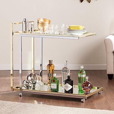SEI Riata Bar Cart - Metallic Silver (HZ6403)
