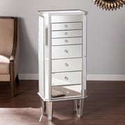 SEI Margaux Mirrored Jewelry Armoire (JS7512)