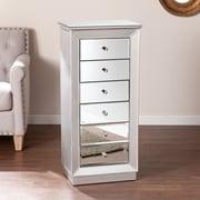 SEI Jacklyn Jewelry Armoire - Silver (JS7513)