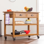SEI Kellis Kitchen Cart - Dark Oak (KA3268)