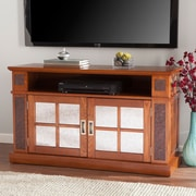SEI  Marcell Media Console with Faux Stone (MS0401)