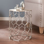 SEI Clarissa Metal Accent Table - Silver (OC1504)