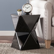 SEI Justine Mirrored Accent Table - Black (OC1509)