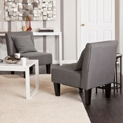 SEI Holly & Martin Purban Slipper Chairs - Cool Gray - 2 Piece (UP1013)
