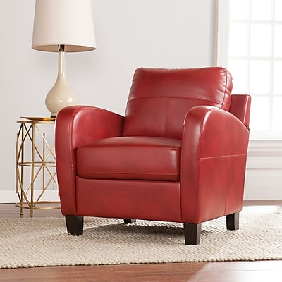 SEI Bolivar Faux Leather Lounge Chair - Red (UP9603)