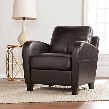 SEI Bolivar Faux Leather Lounge Chair - Black (UP9604)