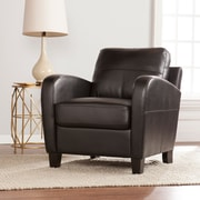 SEI Bolivar Faux Leather Lounge Chair - Black (UP9604)