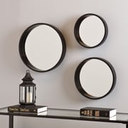 SEI Holly & Martin Daws Wall Mirror  - Black - 3 Piece Set (WS4521)