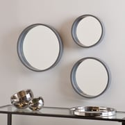 SEI Holly & Martin Daws Wall Mirror - Cool Gray - 3 Piece Set (WS4523)