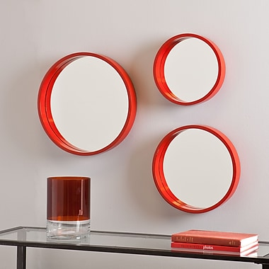 SEI Holly & Martin Daws Wall Mirror - Red/Orange - 3 Piece Set (WS4527)